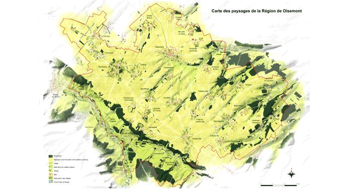 Carte des paysages (J.Colin)