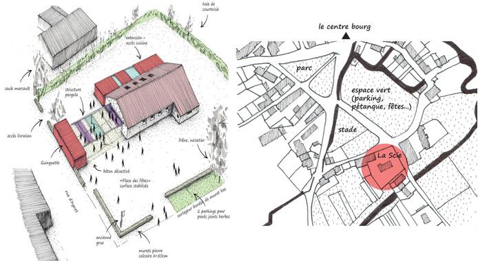 Intention architecturale et plan de la commune