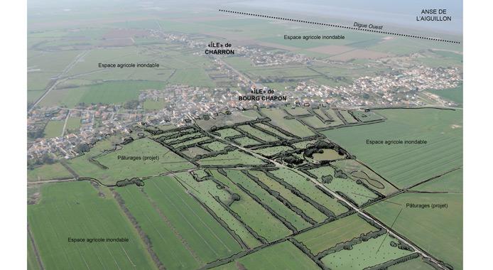 Vue perspective de l'aménagement proposé - ZDS des Sables de Bourg Chapon
